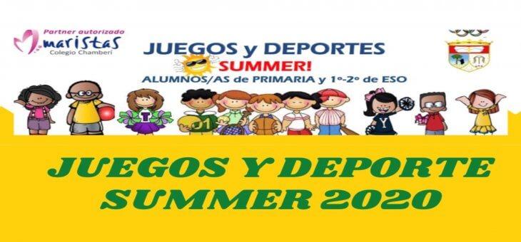 JUEGOS Y DEPORTES SUMMER 2020
