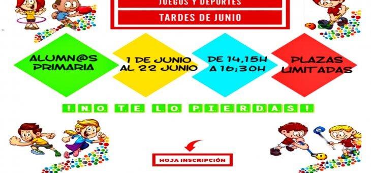 JUEGOS Y DEPORTES JUNIO 2021